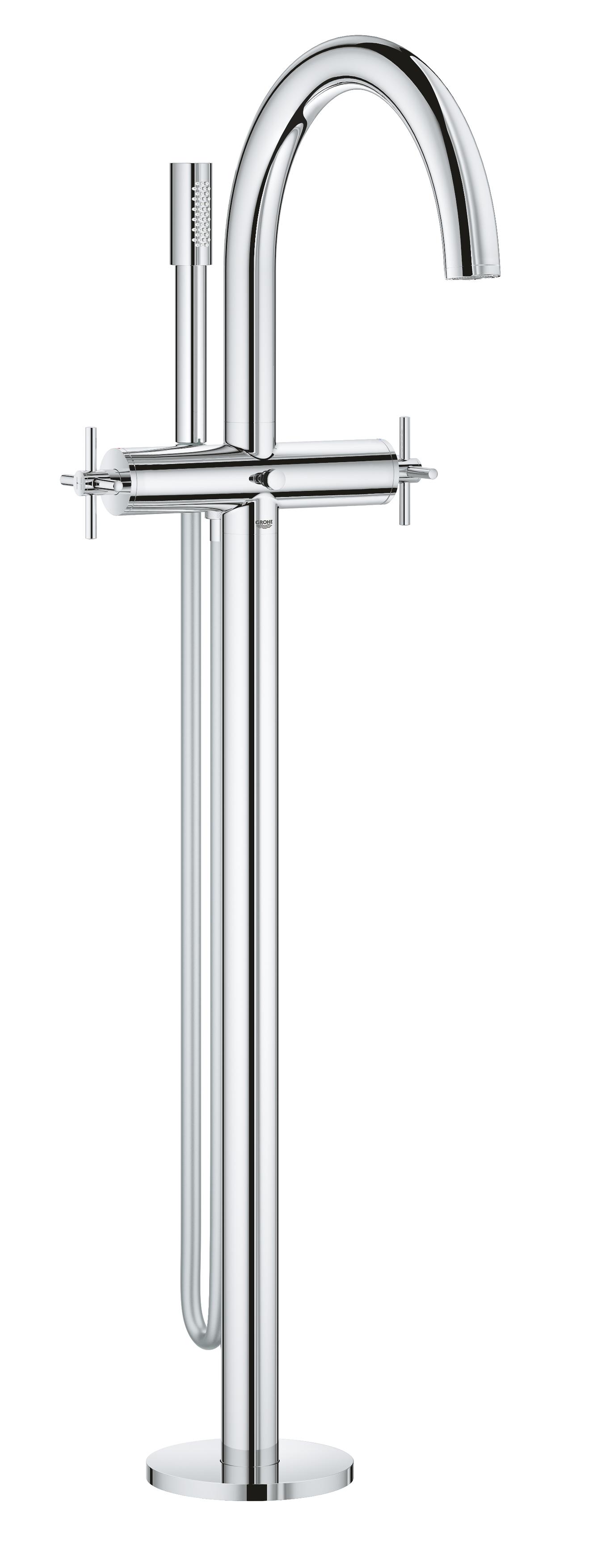 GROHE Atrio - 2-uchwytowa bateria wannowa do montażu podłogowego z zestawem punktowym chrom 25044003 .