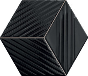 Mozaika ścienna Tubądzin Colour black 19,8x22,6 cm