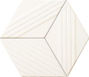 Mozaika ścienna Tubądzin Colour white 19,8x22,6 cm