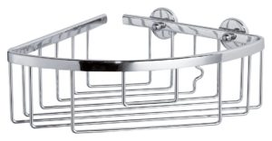 Koszyk łazienkowy narożny głęboki pojedynczy Tesa Aluxx 92x192x200 mm chromowane aluminium 40200
