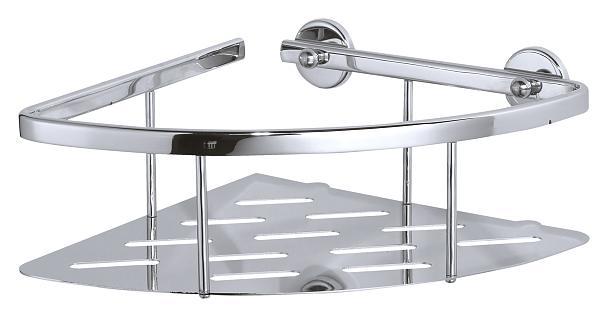 Koszyk łazienkowy narożny, pojedynczy Tesa Aluxx 92x250x125 mm chromowane aluminium 40203