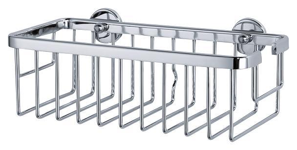 Koszyk łazienkowy pojedynczy Tesa Aluxx 92x250x125 mm chromowane aluminium 40201