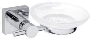 Mydelniczka Tesa Hukk 51x145x115 mm chromowany metal /matowe szkło 40256