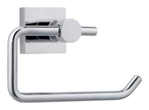 Uchwyt na papier toaletowy bez wieczka Tesa Hukk 95x147x67 mm chromowany metal 40246