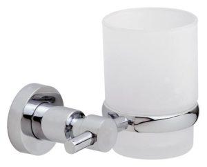 Uchwyt ze szklanką Tesa Loxx 95x130x100 mm chromowany metal /matowe szkło 40284