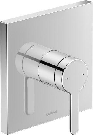Bateria prysznicowa podtynkowa jednouchwytowa Duravit C.1 C14210009010