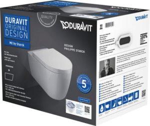 Zestaw WC z miską wiszącą ME by Starck Duravit Rimless 45290900A1 (2529090000 + 0020090000) !!PROMOCJA!!