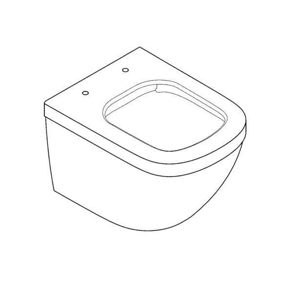 Zdjęcie GROHE Euro Ceramic – miska WC wisząca krótka biała 39206000 + 39330001 .
