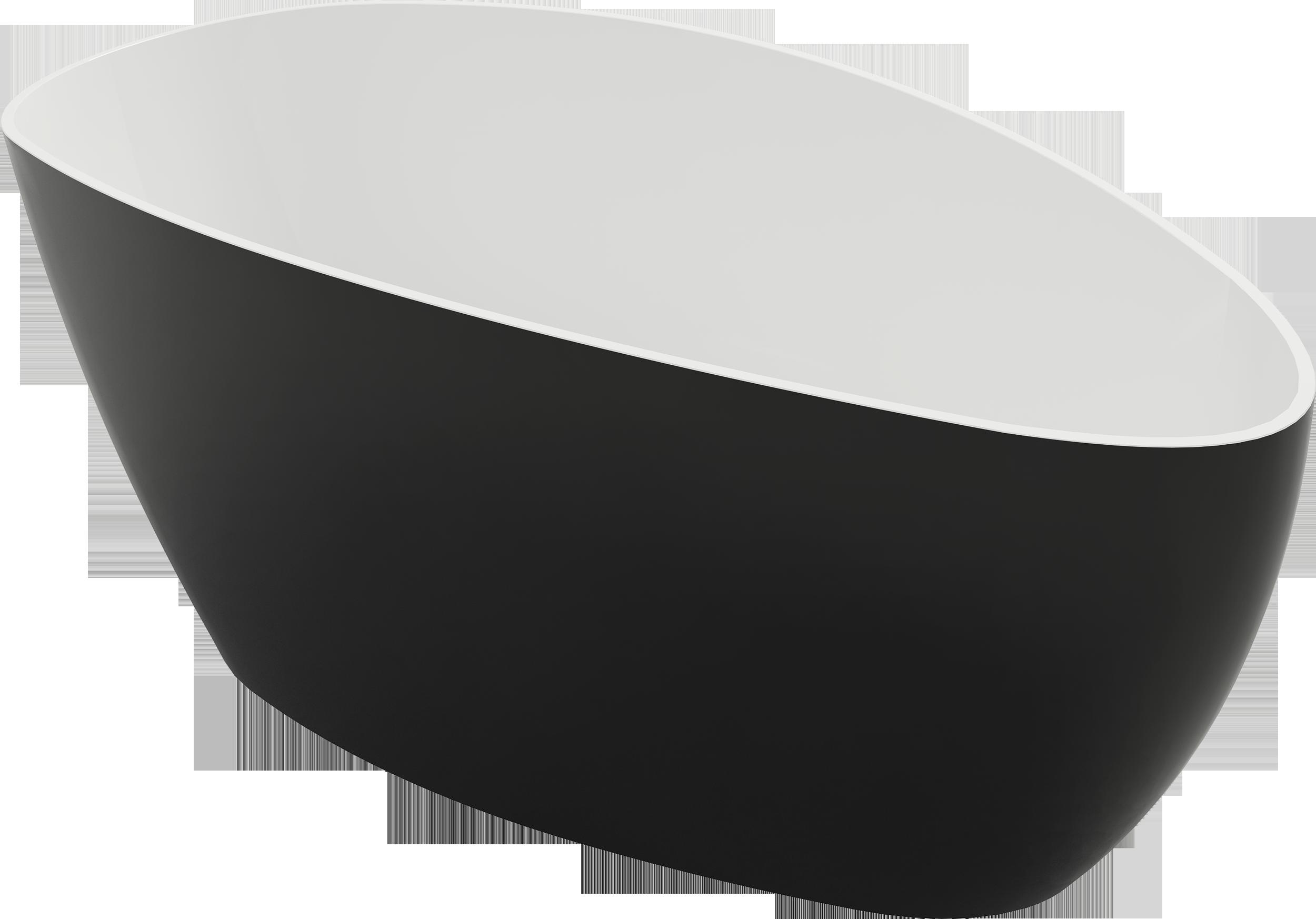 Wanna wolnostojąca Marmite Rita bicolor 157x70 cm czarno-biała 622500161000