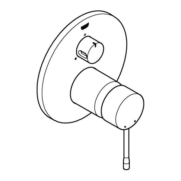 Zdjęcie GROHE Essence – jednouchwytowa bateria do obsługi 3 wyjść wody 24092001