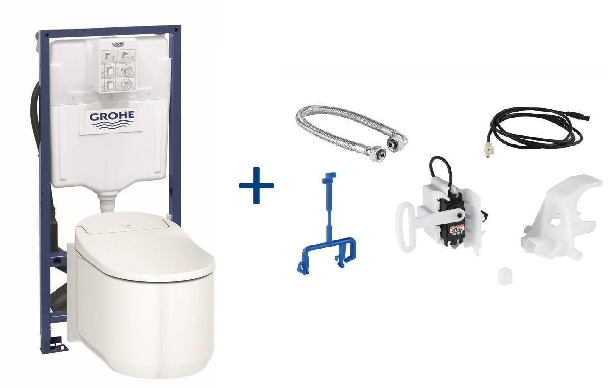 GROHE Sensia Arena Toaleta myjąca + Stelaż Grohe Rapid SL + Zestaw do spłukiwania automatycznego 39354SH1+39112001+46944000