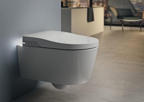 Zdjęcie In-Wash® – toaleta myjąca podwieszana Roca Inspira Rimless, zasilanie 230V A803060001