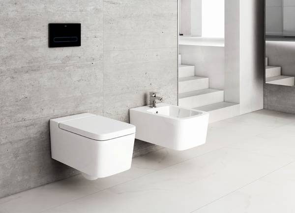 Zdjęcie Miska WC podwieszana Roca Inspira Square Rimless 56x37cm A346537000