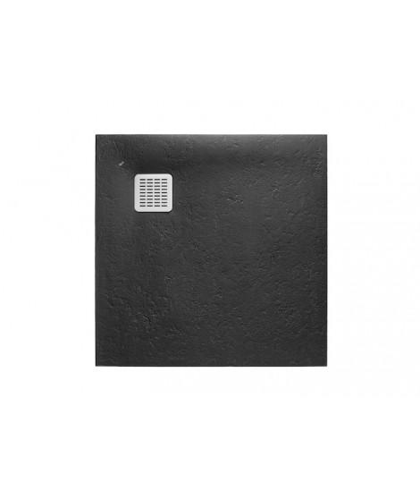 Brodzik kwadratowy Roca Terran 800x800 mm Syfon w kpl. Czarny AP0332032001400