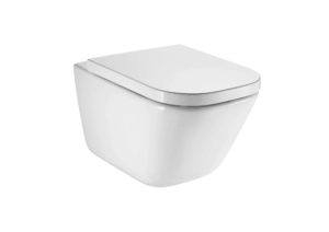 Miska WC podwieszana Roca Gap Square Rimless 540 +Deska WC wolnoopadająca Duroplast łatwowypinalna A34647L000+A80148200U (A34H47C000)