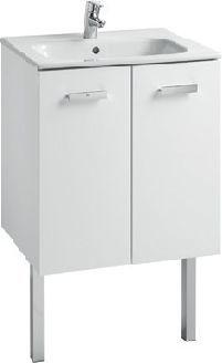 Zestaw łazienkowy Roca Victoria Basic 60,5x56,5 cm Unik z drzwami (szafka+umywalka) Biały połysk A855883806