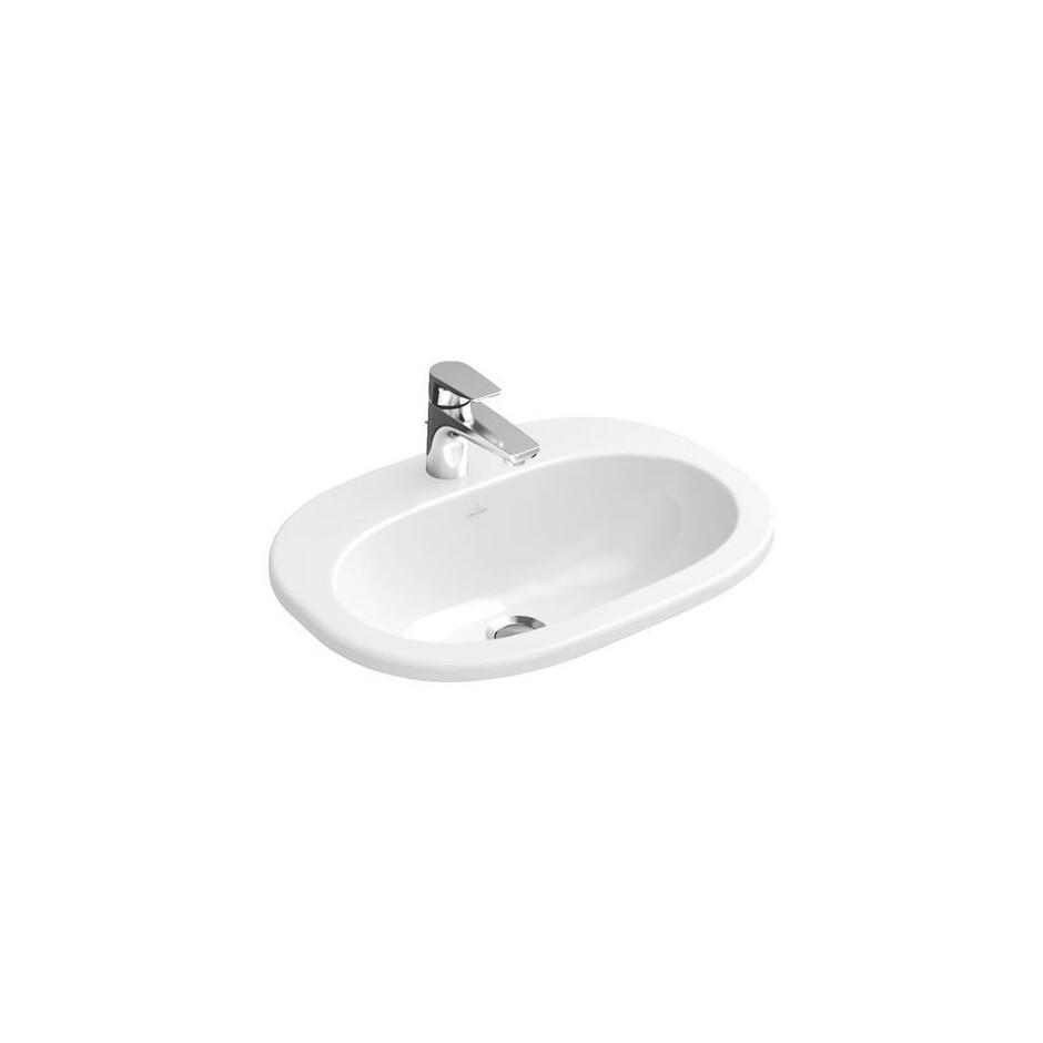 Umywalka nablatowa owalna Villeroy&Boch O.Novo 40,5x56cm Weiss Alpin Ceramicplus 416156R1