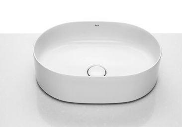 Umywalka nablatowa cienkościenna Roca Inspira 50x37 cm Round FINECERAMIC® A327520000