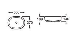 Zdjęcie Umywalka nablatowa cienkościenna Roca Inspira 50×37 cm Round FINECERAMIC® cafe A327520660 @
