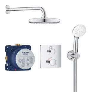 GROHE Grohtherm Tempesta 210 - termostatyczny system prysznicowy do montażu podtynkowego chrom 34729000 .