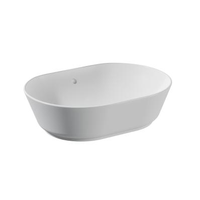 Umywalka nablatowa Vitra Geo 55 cm owalna, bez przelewu, bez otworu na baterię 7427B003-0016