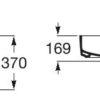 Zdjęcie Umywalka nablatowa cienkościenna Roca Inspira 50×37 cm Square FINECERAMIC® onyks A327530640