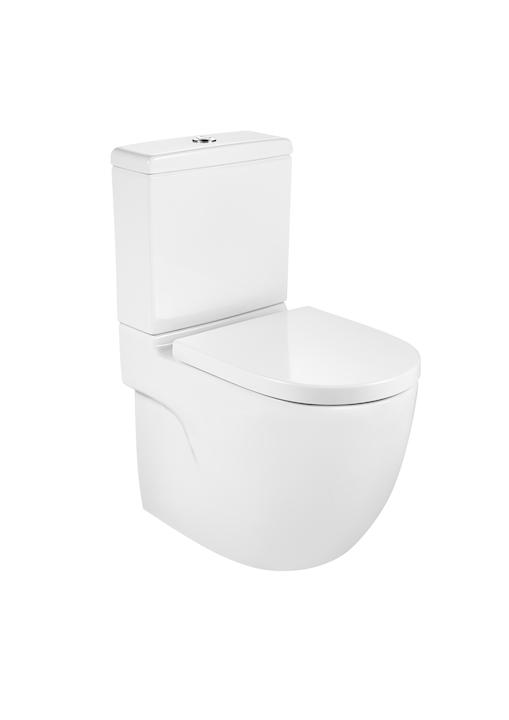 Miska WC Roca Meridian 37x60x79 cm Rimless o/podwójny BTW do kompaktu (wersja przyścienna) A34224L000