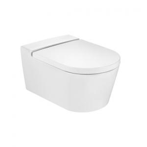 Zdjęcie Deska WC wolnoopadająca Roca Inspira Round Compacto Supralit onyks A80152C64B @