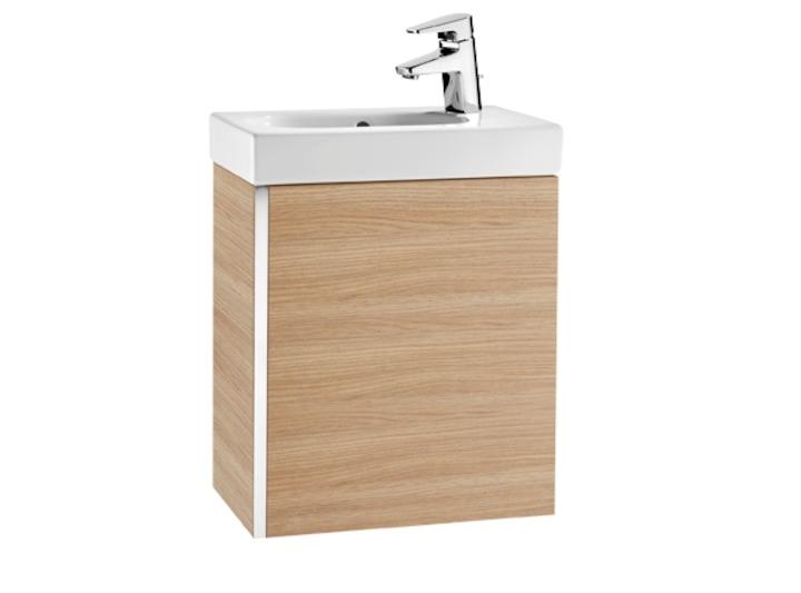 Zestaw łazienkowy Roca Mini 45x25 cm Unik z drzwami (szafka+umywalka), Dąb tekstura A855873155