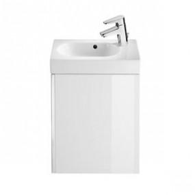 Zestaw łazienkowy Roca Mini 45x25 cm Unik z drzwami (szafka+umywalka) Biały połysk A855873806