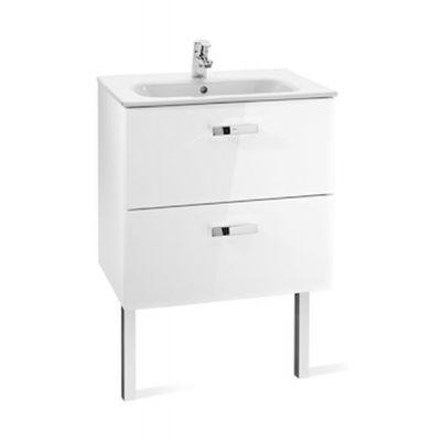 Zestaw łazienkowy Roca Victoria Basic 60x56,5 cm Unik z 2 szufladami (szafka+umywalka) Biały połysk A855884806