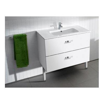 Zdjęcie Zestaw łazienkowy Roca Victoria Basic 70×56,5 cm Unik z 2 szufladami (szafka+umywalka) Biały połysk A855853806