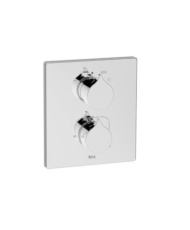 Element zewnętrzny termostatycznej baterii wannowo-prysznicowej do łączenia z ROCABOX Roca Insignia chrom A5A0C3AC00