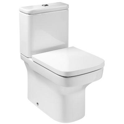 Miska WC do kompaktu Rimless (odpływ podwójny) Roca Dama – N 36,5x60 cm, biała A34278L000