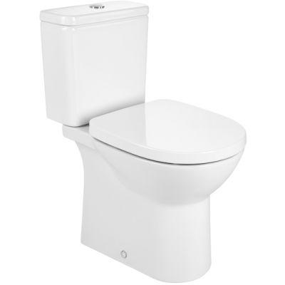 Miska WC Round Roca Debba do kompaktu Rimless o/podwójny, biały A34299P000