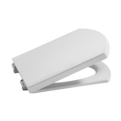 Deska WC twarda wolnoopadająca Roca Hall 44×36 cm, biała A80162C004