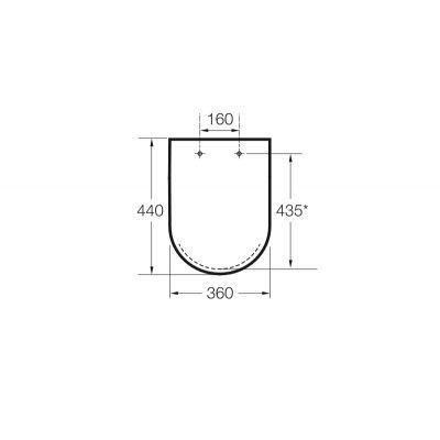Zdjęcie Deska WC twarda wolnoopadająca Roca Hall 44×36 cm, biała A80162C004