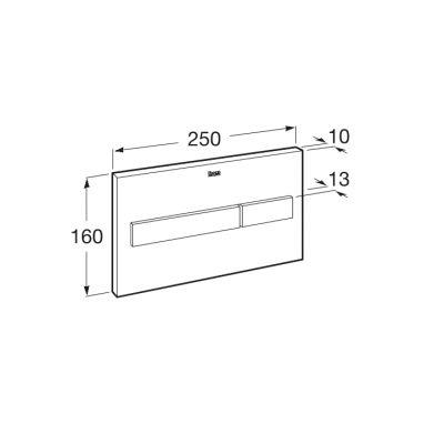 Zdjęcie PL7 – przycisk 2-funkcyjny Roca Stelaże 25×16 cm biały mat / szkło połysk A890088309 ^