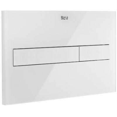 PL7 - przycisk 2-funkcyjny Roca Stelaże 25x16 cm biały mat / szkło połysk A890088309 ^