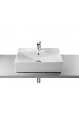 Umywalka nablatowa (szkliwiony tył) Roca Diverta 60x43 cm, biała A32711G000