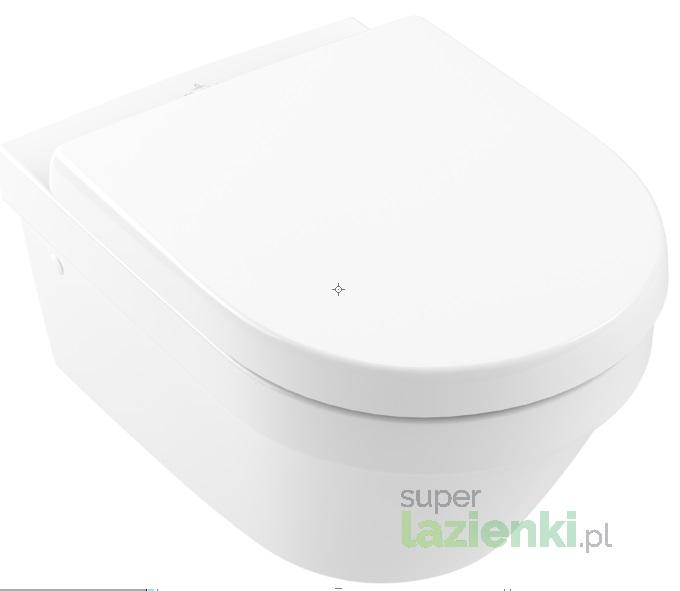 Miska WC wisząca Villeroy & Boch Architectura 2.0 ukryte mocowania biała 4694R001