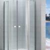 Zdjęcie Kabina prysznicowa Rondo z polem stałym z powłoką MaxiClean, profile aluminiowe chromowane Roca Capital 195×90 cm AM4309012M