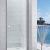 Zdjęcie Drzwi do wnęki prysznicowej powłoką MaxiClean, profile aluminiowe chromowane Roca Capital 195×100 cm AM4710012M