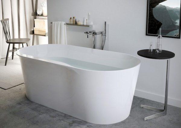 Zdjęcie Owalna wanna kompozytowa wolnostojąca Stonex ® Roca Raina 159×79 cm biały A248466000