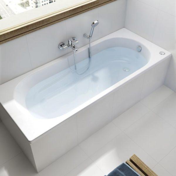 Zdjęcie Prostokątna wanna akrylowa Roca Easy 160×75 cm biały A248623000