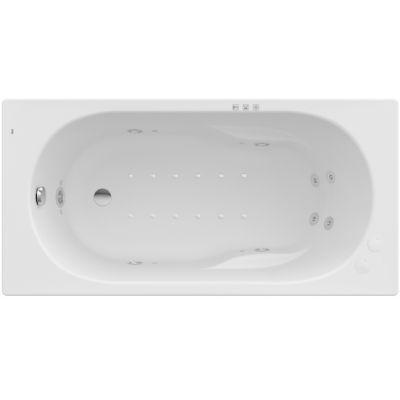 Prostokątna wanna akrylowa z hydromasażem Smart WaterAir Plus Opcja Roca Genova N 140x70 cm biały A24T348000