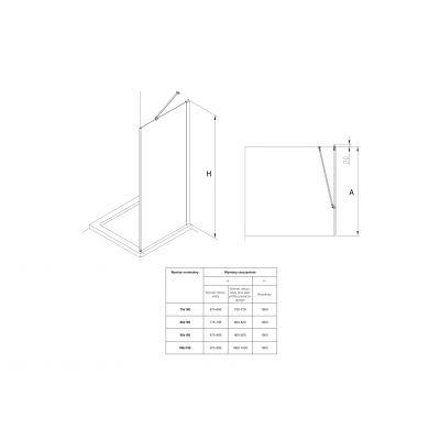 Zdjęcie Ścianka boczna z powłoką MaxiClean, profile aluminiowe chromowane Roca Capital 195×70 cm AM4407012M