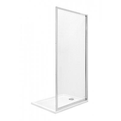 Ścianka boczna z powłoką MaxiClean, profile aluminiowe chromowane Roca Town 195x70 cm AMP2007012M