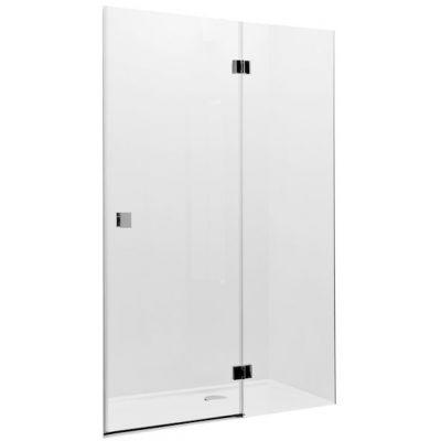 Drzwi z polem stałym z powłoką MaxiClean, profile aluminiowe chromowane Roca Metropolis 195x80 cm AMP3408012M