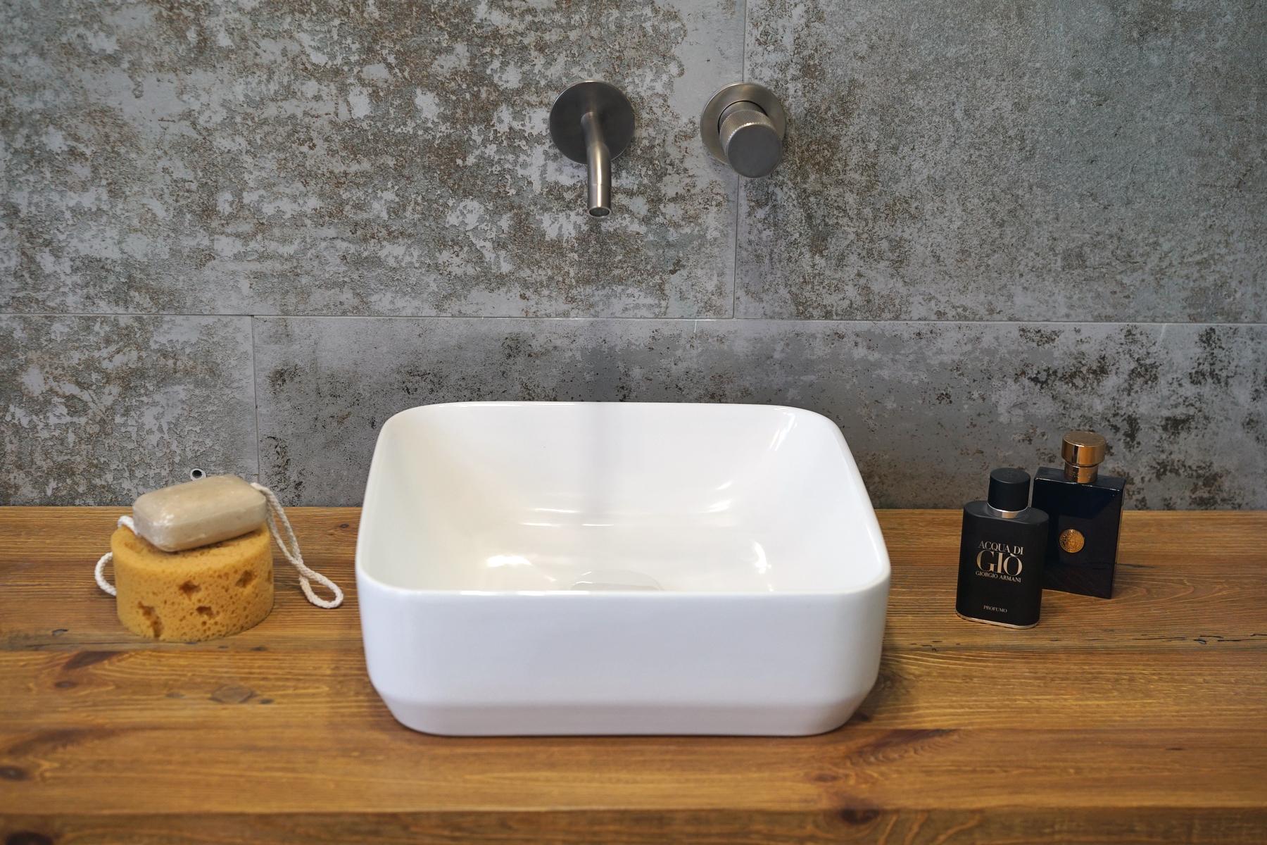 Umywalka nablatowa Aquahome Buena36x36x12,5 cm